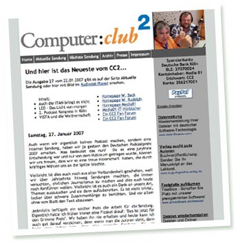Screenshot Computer Club Zwei