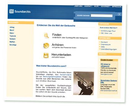 Screenshot Soundarchiv.com