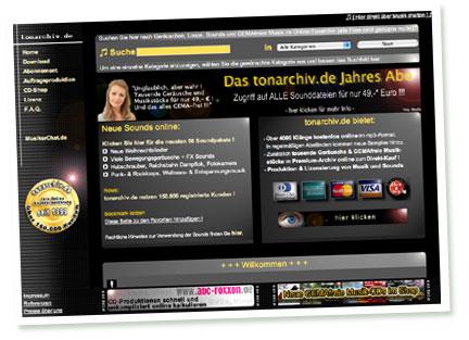 Screenshot Tonarchiv.de