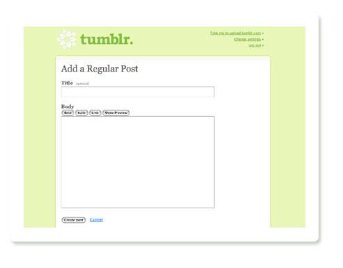 Tumblr normaler Artikel