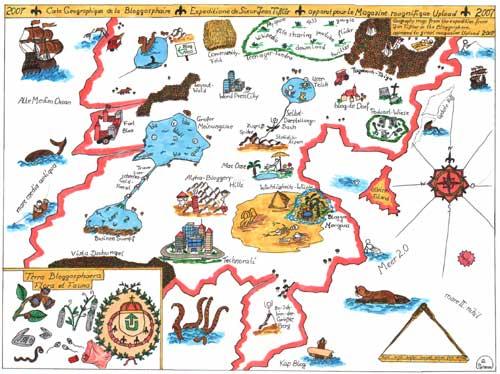 Weltkarte der Blogosphäre Vorschau
