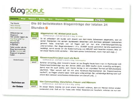 Screenshot Blogscout