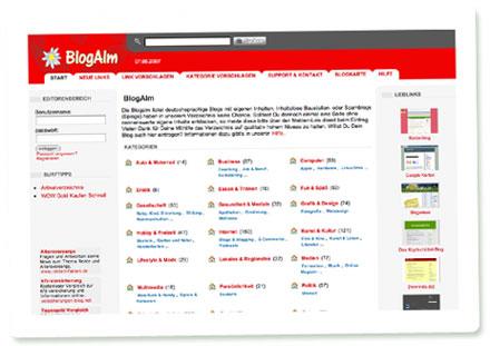Screenshot Blogalm