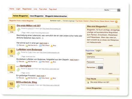 Screenshot Blogperlen