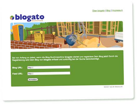 Screenshot Blogato