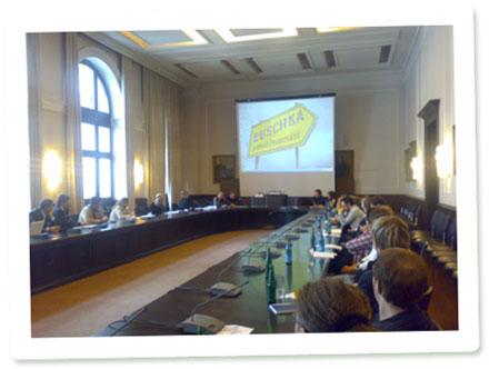 Schnappschuss vom Jonettag: Workshop zum Thema Videojournalismus