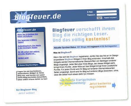 Screenshot Blogfever