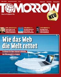 Cover der aktuellen TOMORROW-Ausgabe