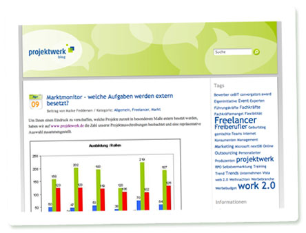 Screenshot Projektwerk-Blog