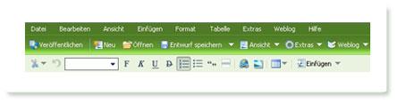 Windows Live Writer - die Iconleiste