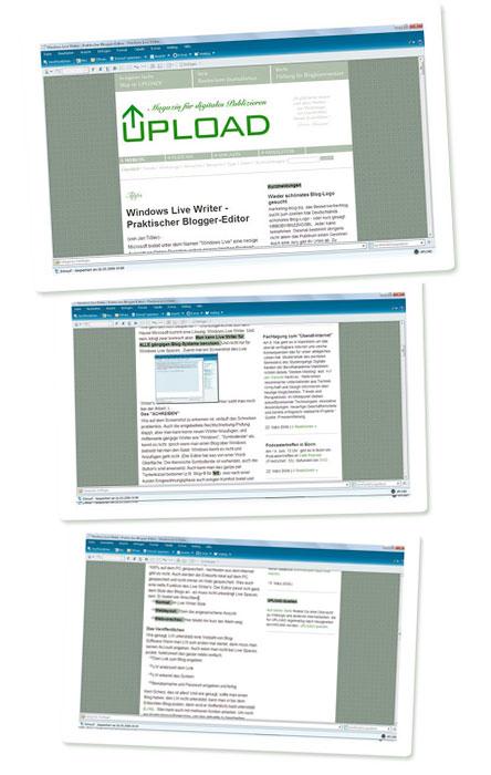 Windows Live Writer - Live-Vorschau