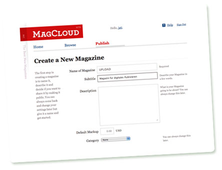 MagCloud: Create a New Magazine