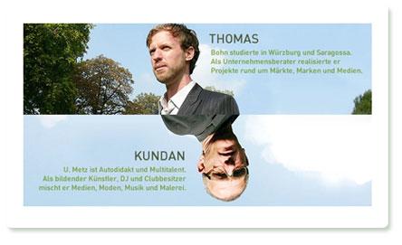 weScreen: Thomas Bohn und Kundan U. Metz