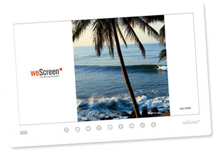 weScreen: Screenshot der Juli-Ausgabe