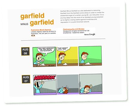 """Screenshot """"Garfield Minus Garfield"""""""