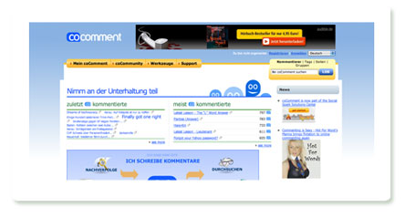 Screenshot CoComment