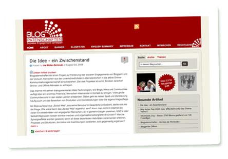 Screenshot Blogpatenschaften.de