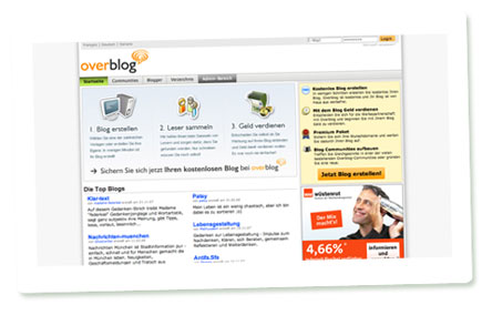 Screenshot Overblog Deutschland