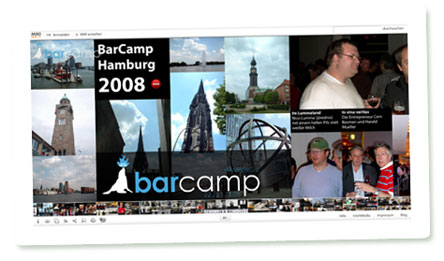 Screenshot vom MIKI zum BarCamp Hamburg