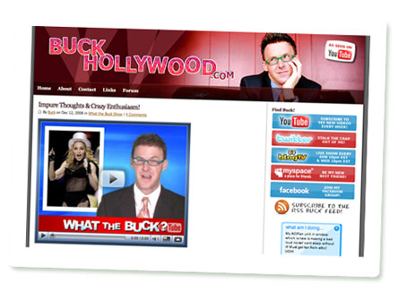 Screenshot von BuckHollywood.com, Michael Buckley