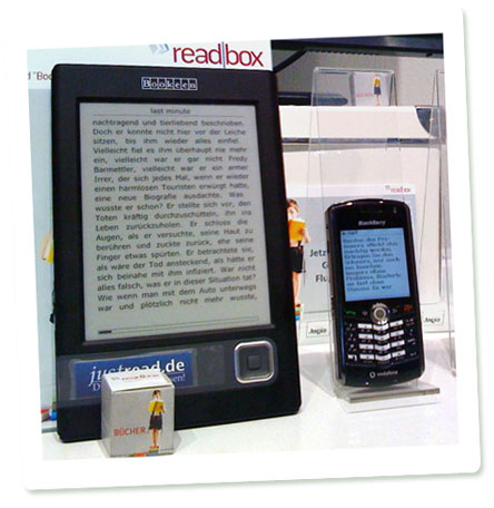 Readbox-Stand in Frankfurt