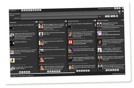 Tweetdeck: Screenshot der Programmoberfläche