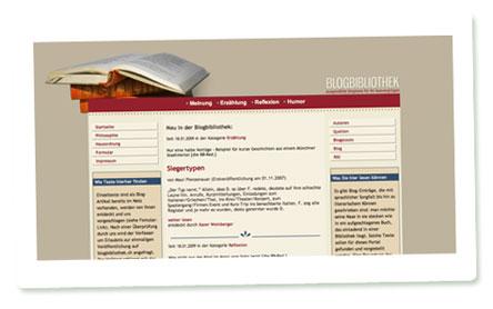 Screenshot der Blogbibliothek