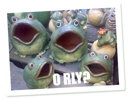 Die berühmten O RLY Keramikfrösche