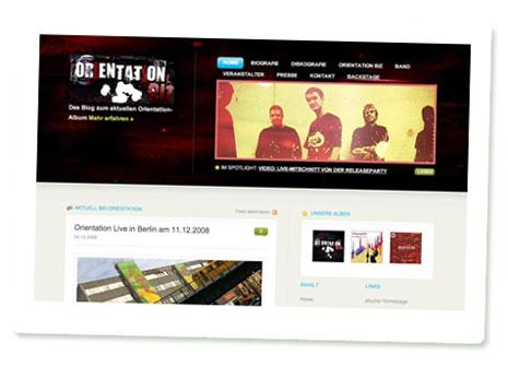 Screenshot der Orientation-Homepage auf Akuma