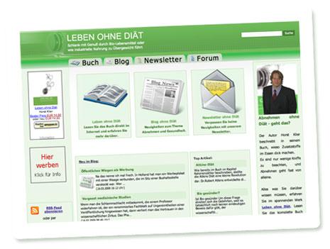"Screenshot der Website ""Leben ohne Diät"""