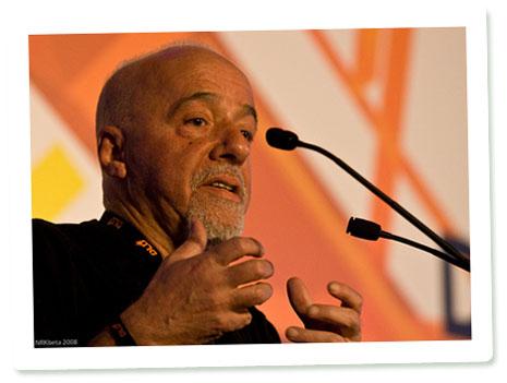 Paulo Coelho auf dem DLD 08 in München