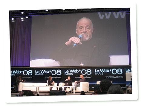 Paulo Coelho auf der LeWeb 08 in Paris