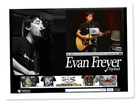 Evan Freyer auf MySpace