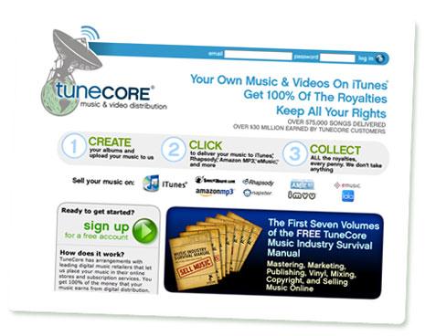 Screenshot tunecore