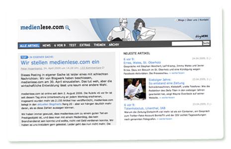 Screenshot medienlese.com