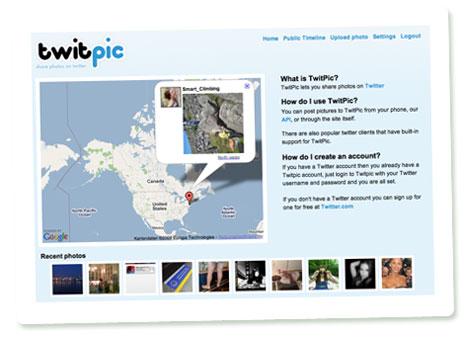 Startseite von Twitpic