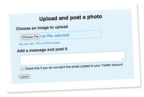 Upload eines Fotos über die Website