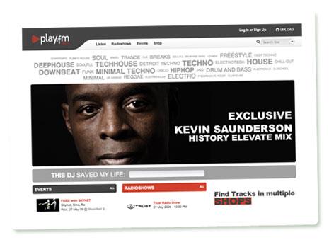 Startseite von PLAY.FM