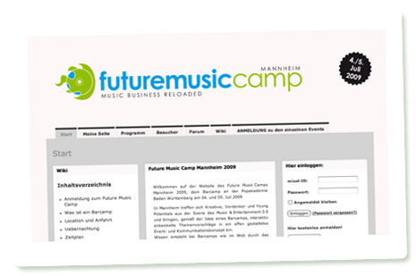 Startseite Future Music Camp