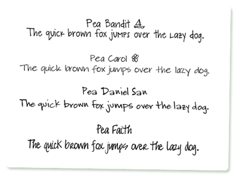 fonts-handwriting