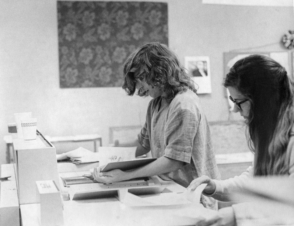 Mann an Kopierer 1969