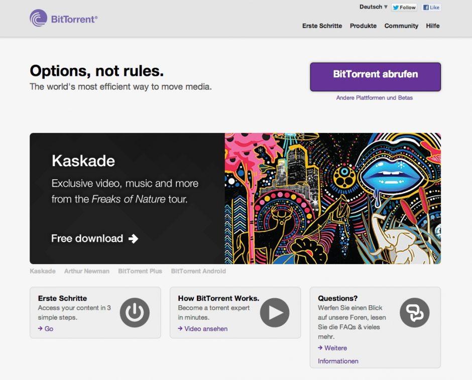 BitTorrent-Website