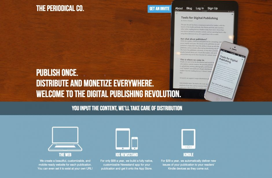 Website von The Periodical Co