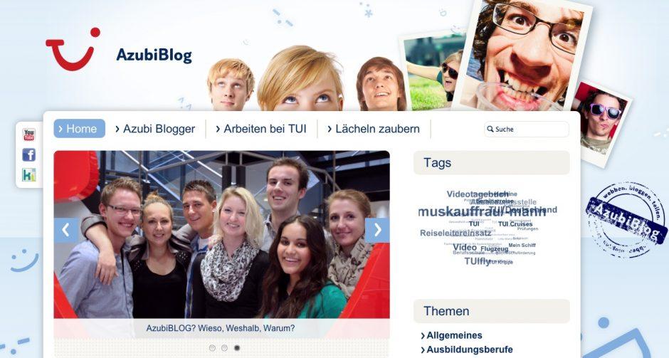 Mit dem Azubi-Blog möchte sich das Touristikunternehmen TUI als attraktiver Ausbilder präsentieren (Bild: TUI).