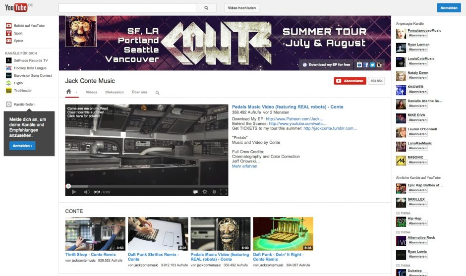 Jack Conte auf YouTube