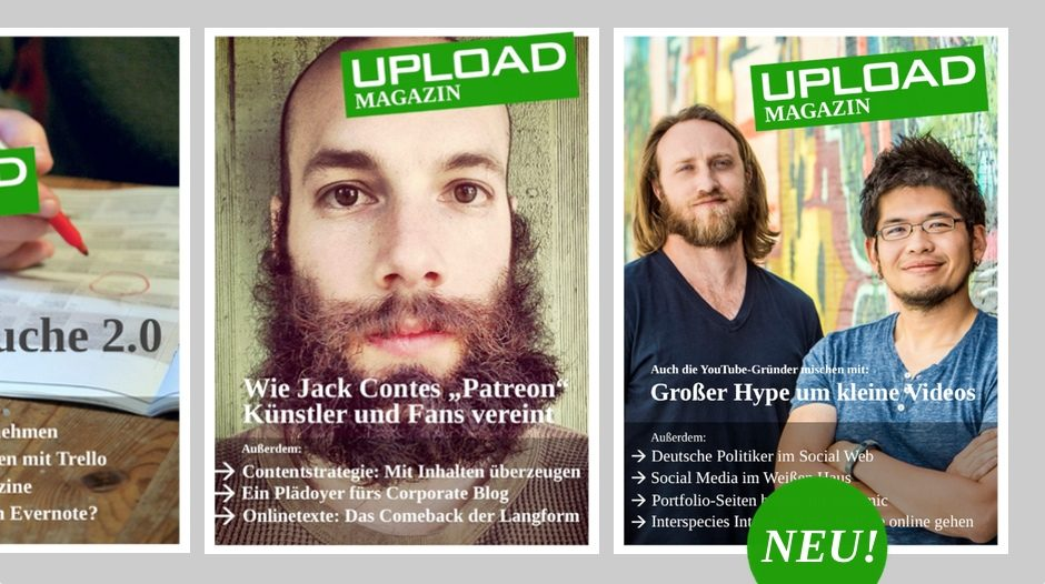 Das UPLOAD Magazin im September 2013
