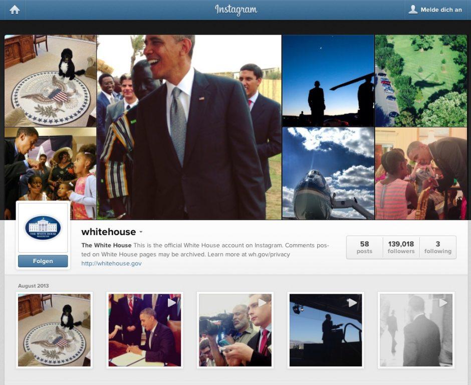 Auch kleinere Plattformen wie Instagram haben ihren Platz in der Social Media Strategie des Weißen Hauses.