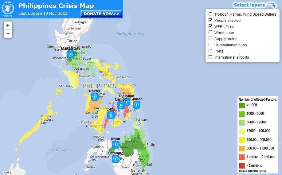 Crisis Map des World Food Programm