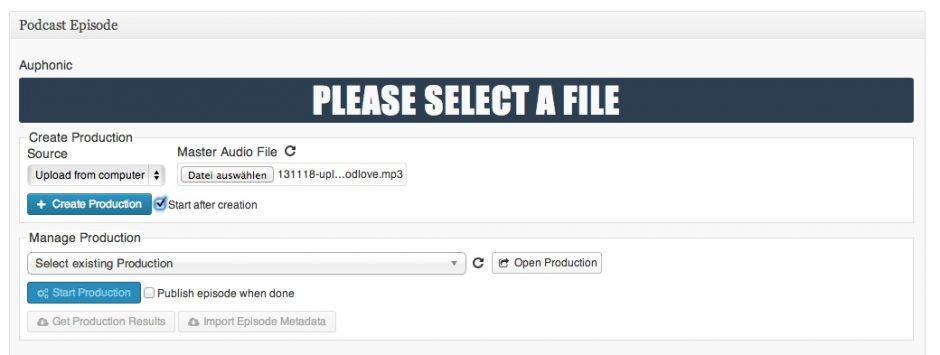Datei hochladen