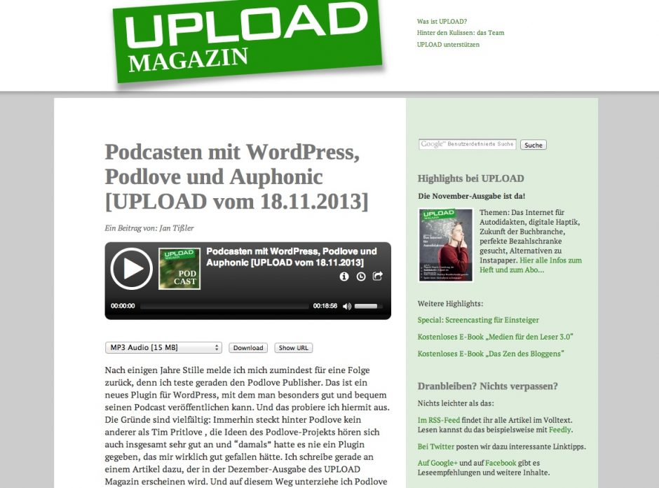 UPLOAD Podcast